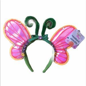 Hand Made Charm Art Butterfly Costume Headband